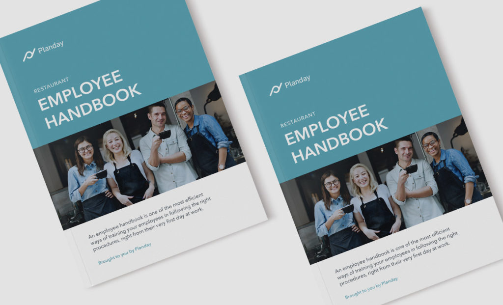 Employee handbook mockup