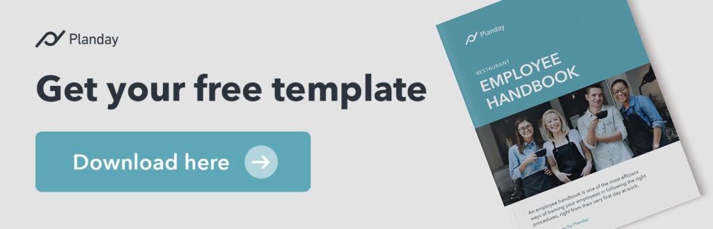Get your free employee handbook template ad
