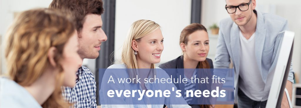 A step-by-step process for making a work schedule that works for everyone