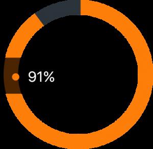 91 percent