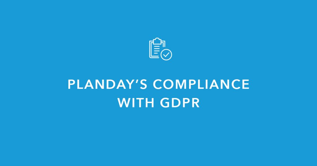Planday's compliance with GDPR