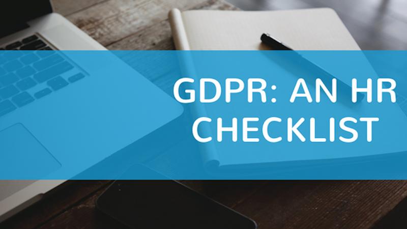 GDPR: An HR Checklist