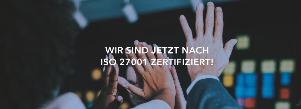 Wir sind jetzt nach ISO 27001 zertifiziert!