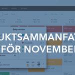 Produktsammanfattning för november