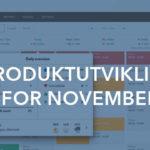 Oversikt over produktutviklingen for november