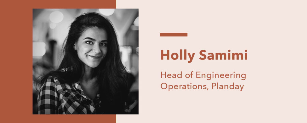 Holly Samimi Head of Engineering Operations at Planday portrait
