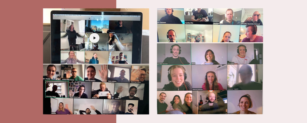 Video conference call with teams