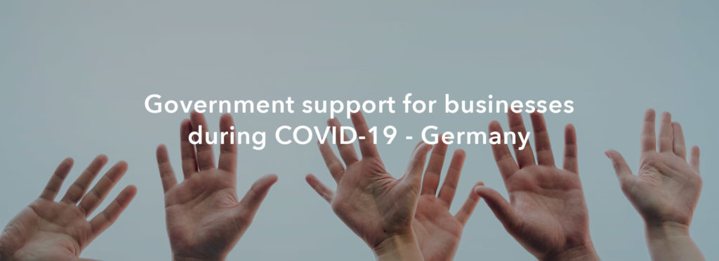 Government support for businesses during COVID-19 — Germany