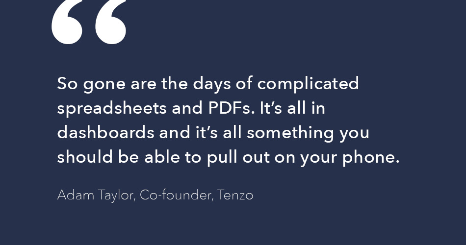 Adam Taylor quote about mobile data and dashboards