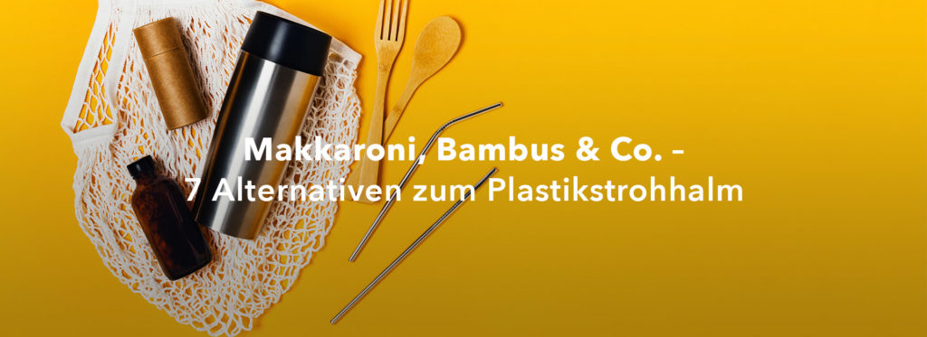 Makkaroni, Bambus & Co. – 7 Alternativen zum Plastikstrohhalm
