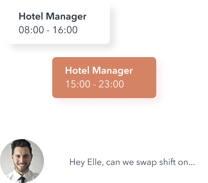 Hotel Staff Shift swap header