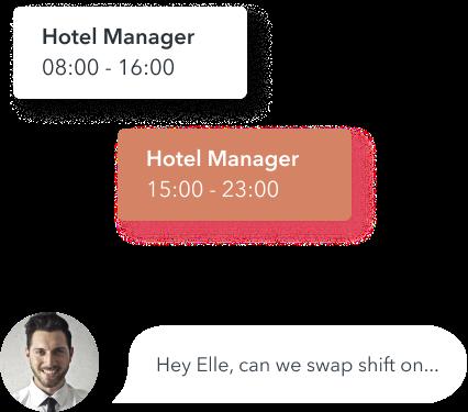 Hotel Staff Shift swap header